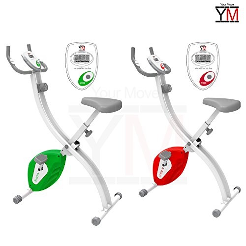 Fitness Cyclette salvaspazio rosso o verde di YOUR MOVE ( YM ) richiudibile (Verde)