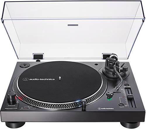 Audio-Technica AT-LP120XUSB Tourne-Disque avec entraînement Direct et Micro AT-VM95E & Headshell at-HS6 Noir