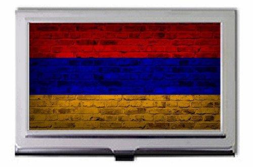 Armenien Flagge Brick Wall Design Visitenkartenhalter