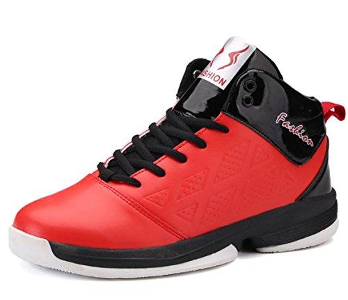 Männer Basketball Anti-Rutsch Breathable Studenten Sportschuhe Wearable Stiefel Sneakers Outdoor Running Casual Schuhe Red