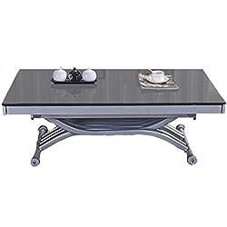RDM Concept Table Basse relevable à allonges Zen - Verre Gris