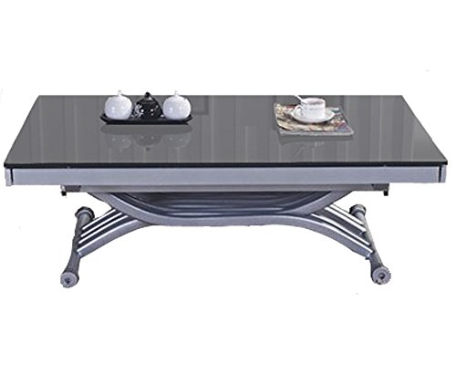 RDM Concept Table Basse relevable à allonges Zen - Verre Gris
