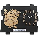 Lord Ganesha Beautiful Wall Decor Cum Clock With Blessings Wall Watch