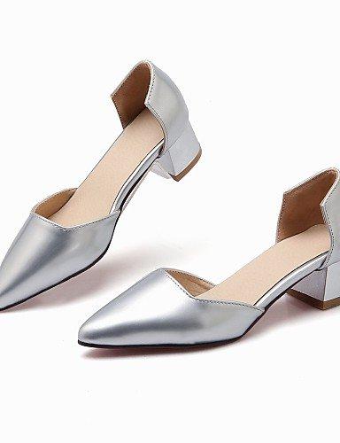 WSS 2016 Chaussures Femme-Mariage / Bureau & Travail / Décontracté / Soirée & Evénement-Noir / Rouge / Argent / Beige-Gros Talon-Talons / Bout red-us5.5 / eu36 / uk3.5 / cn35