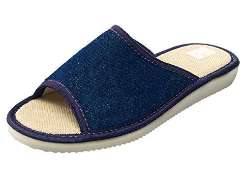 bosaco, Pantofole donna Multicolore multicolore One Size, Multicolore (Jeans 1), One Size