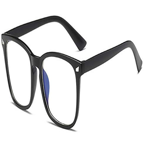 Blaulichtfilter-Computerbrille Zum Blockieren Von UV-Kopfschmerzen [Anti Eye Eyestrain] Gaming-Brille Mit Transparenten Gläsern, Unisex (Frame Color : A5969 Matt black)