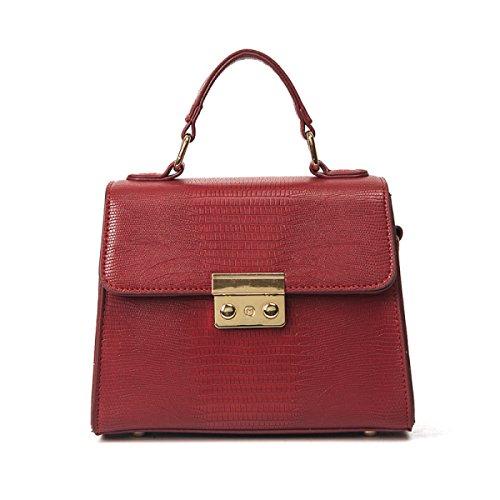 WU Zhi Frauen Eidechsen Handtaschen Schulter Kuriertasche Red