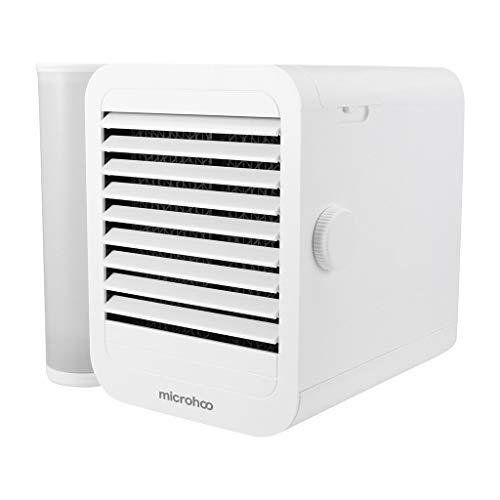 Kapazität Bad-lüfter (TIREOW Household Small Air Cooler Lüfter Desktop Mini Air Cooler Kleine Luftkühler Klimaanlage Luftbefeuchter Luftreiniger Lüfter Mit 1000ml Wassertank)