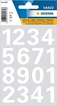 Herma, weerbestendige folie cijfers 25 mm wit