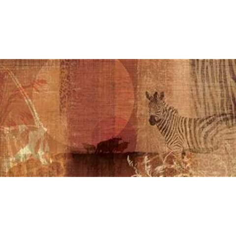 Feeling at home, Stampa artistica x cornice - quadro, fine art print, Safari Sunset I cm 91x183