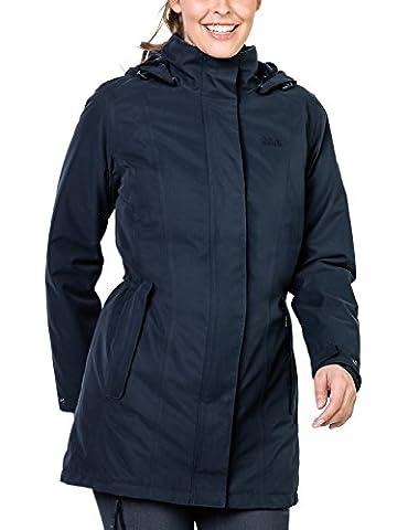Jack Wolfskin Damen Madison Avenue Coat Mantel, Midnight Blue, M