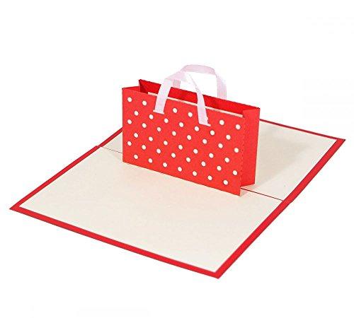 """3D KARTE""""Shopping"""" I Pop-Up Karte als Gutschein I Klappkarte Geburtstagskarte, Geldgeschenk, Glückwunschkarte"""