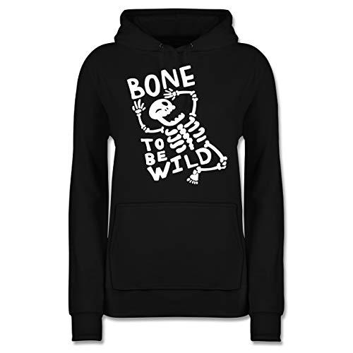 Halloween - Bone to me Wild Halloween Kostüm - XL - Schwarz - JH001F - Damen Hoodie