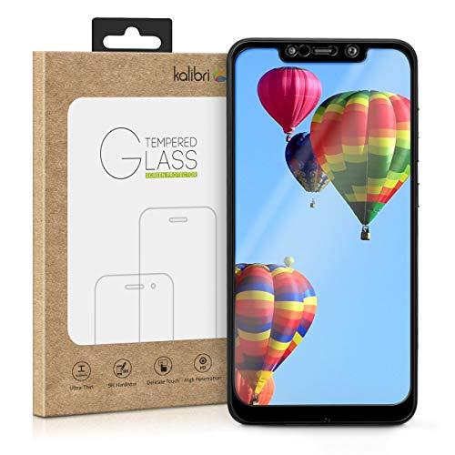 kalibri Xiaomi Pocophone F1 Folie - 3D Glas Handy Schutzfolie für Xiaomi Pocophone F1 - Auch für gewölbtes Bildschirm