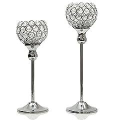 Idea Regalo - VINCIGANT Set di Portacandele Candelabro Cristallo Centrotavola Moderna Design Regali Celebrazione Dell'anniversario,30 e 35cm