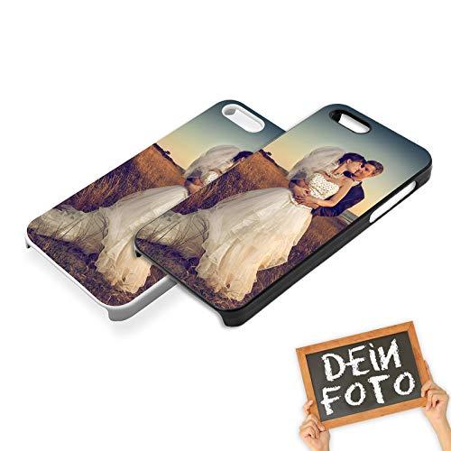 PixiPrints Handyhülle mit eigenem Foto und Text * bedrucktes Schutz Cover Case, Kompatibel mit Apple iPhone 5 / 5S / SE, Hardcase Farben:Schwarz (Matt) (Foto Iphone 5s Case)