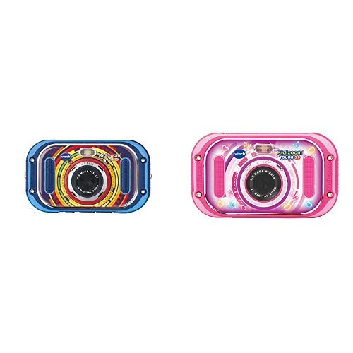Vtech 80-163504 Kidizoom Touch 5.0 Kinderkamera Digitalkamera für Kinder Kinderdigitalkamera, Mehrfarbig & 80-163554 Kidizoom Touch 5.0 pink Kinderkamera Digitalkamera