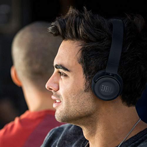 JBL T460BT Extra Bass Wireless On-Ear Headphones with Mic (Black) Image 7