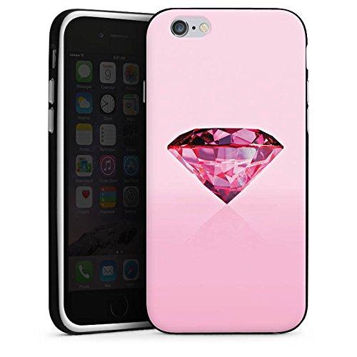 Apple iPhone X Silikon Hülle Case Schutzhülle Diamant Rosa Juwelen Silikon Case schwarz / weiß