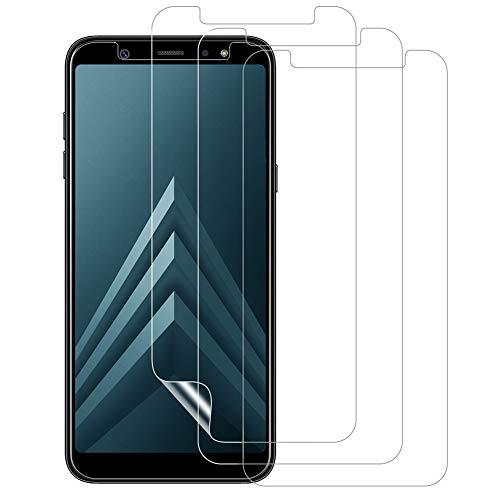 VICKSONGS Schutzfolie für Samsung Galaxy A6 A8 (2018),3Stück Bildschirmschutzfolie (Nicht Glas) Soft Bildschirmschutz Anti-Bläschen Anti-Fingerabdruck Bildschirmfolie Folie Screen Protector für Galaxy A6