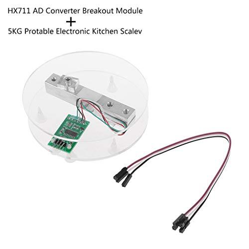 Características: - El módulo HX711 utiliza 24 chips convertidor A/D de alta precisión hx711; HX711 un especialmente diseñado para el diseño de escala electrónica de alta precisión con dos canales de entrada analógica la integración interna de 128 vec...