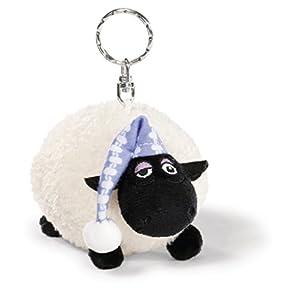 NICI- Shirley gorrito de dormir, llavero bean bag, Color farbe: weiß/schwarz (41461)
