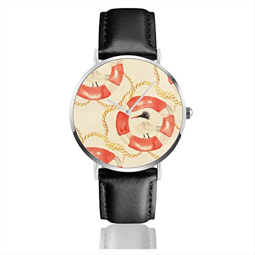 Business Analog Watches,Antique Bird Classic Stainless Steel Quartz Waterproof Wrist Watch with Leather Strap