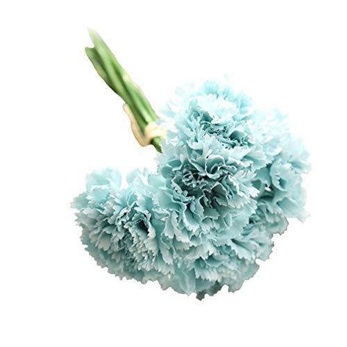 gzzebo 1 Blumenstrauß 6 Zweige künstliche Nelken Blumen Muttertag Geschenk Zuhause Garten Büro Hochzeit Party Deko Foto Requisiten
