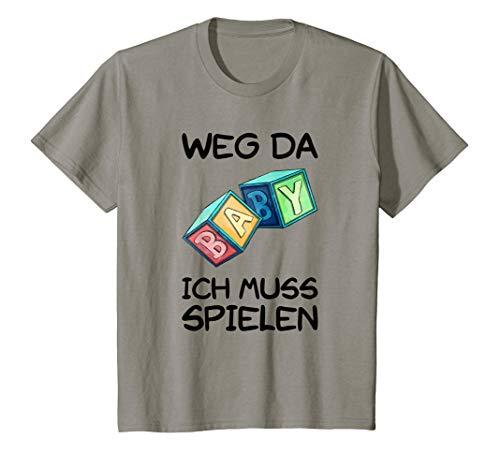 Kinder Weg Da Ich Muss Spielen Kindergartenstart  T-Shirt -