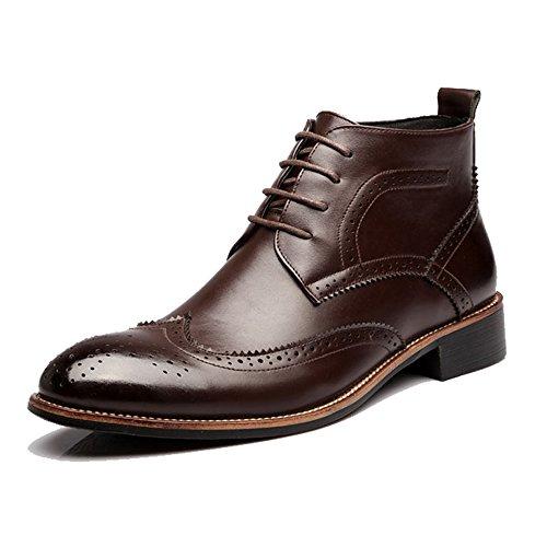 Best choise scarpe da uomo stringate alte e traspiranti oxford alti stivali per gentiluomini all'aperto ( color : brown , size : 43 eu )
