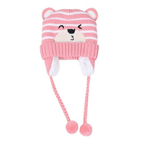URSING Baby Jungen Mädchen Beanie Tasche Baumwolle Hut Kinder Drucken Stricken Hüte Unisex Klassisch Super süß Winter Warm Hüte (D) (Minions Girl Kostüme)