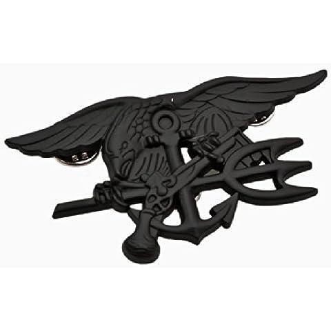 4.1. Navy Seals Special Warfare forze speciali distintivo emblema del metallo replica nero - Seal Staffa