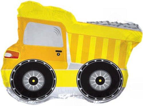 1 Stück 'Yellow Dump Truck / gelber Muldenkipper'-Formenballon, ca. 56 cm, ohne Gasfüllung