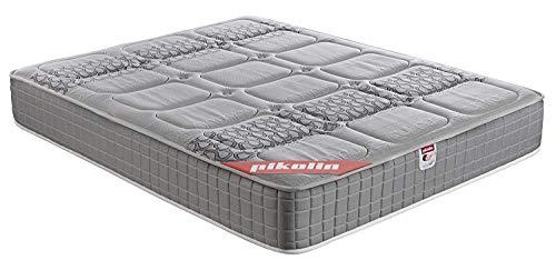 PIKOLIN, Colchón viscoelástico de carbono de gama alta, 150x190, máxima calidad y confort, firmeza media, Altura 26 cm.  Modelo Troya