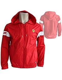 43b63f22e Puma Ferrari 761829 - Chaqueta Ligera para Hombre, Unisex, Rosso Corsa,  Large