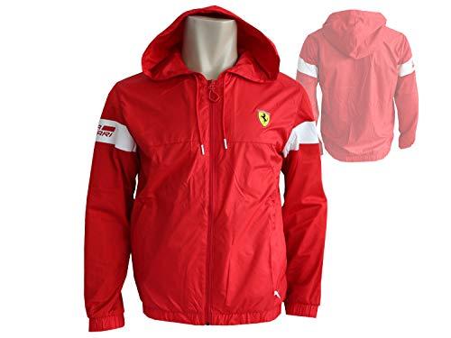 Puma Scuderia Ferrari Fan Jacke rot Leichte Sportjacke Fanartikel Formel 1, Größe:M - Herren Jacke Winter Puma