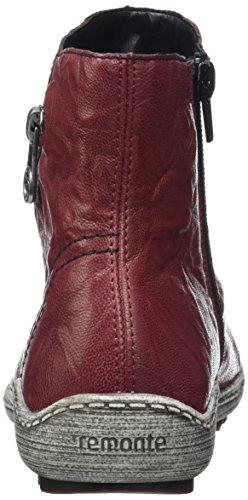 Remonte R1475, Bottes Classiques femme Rouge (Wine / 35)