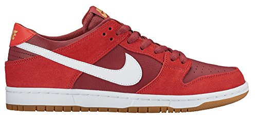 Nike Dunk Low Pro IW, Chaussures de Skate Homme, Blanc Track Red/ White-cedar