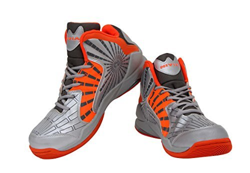 Nivia Phantom Basketball Shoes, Mens 6 UK (Silver/Orange/Grey)  available at amazon for Rs.1319