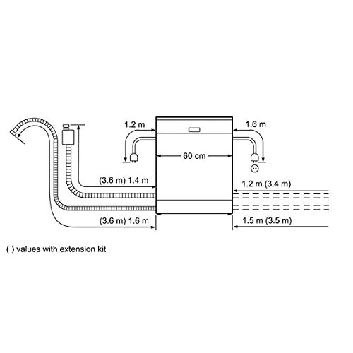 41SgkilHGVL. SS500  - NEFF N30 S41E50N1GB Semi Integrated Standard Dishwasher Stainless Steel Control Panel A Plus Rated