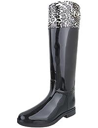 Gummistiefel Gummi Damenschuhe Gummistiefel Blockabsatz Blockabsatz Ital-Design Stiefel