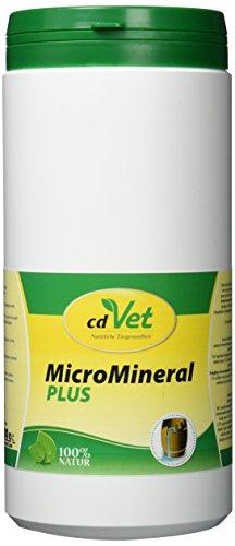 cdVet Naturprodukte MicroMineral plus Hund & Katze 1kg - extra Zink und Selen - Vitamin, Mineralstoff- und Spurenelementgeber - Magensäurebinder - Schadstoffebinder - Magen-Darm Regulation - -