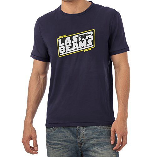 TEXLAB - Pew Pew Laser Beams - Herren T-Shirt Navy