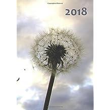großer TageBuch Kalender 2018 - Pusteblume: DIN A4 - 1 Tag pro Seite