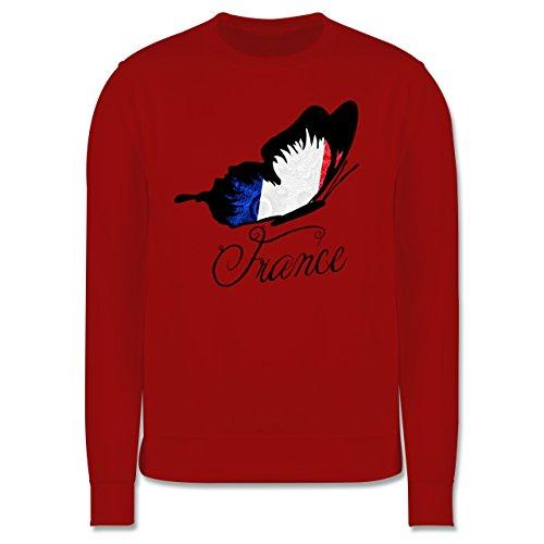 EM 2016 - Frankreich - France Schmetterling - Herren Premium Pullover Rot