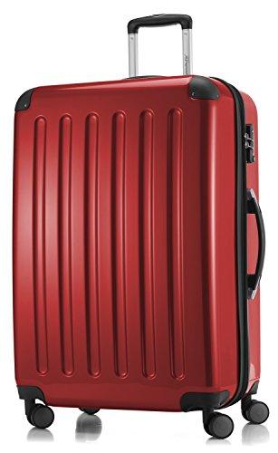 HAUPTSTADTKOFFER - Valigia Rigida Alex, 4 Doppie ruote, TSA, Taglia 75 cm, 119 Litri, Colore  Rosso