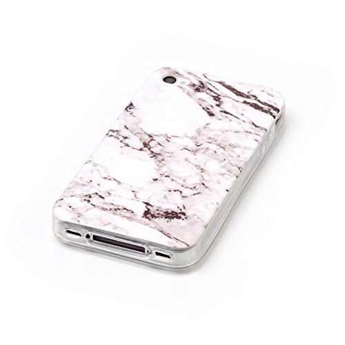 Cover per iPhone 7 PLUS Wanxida Marmo Modello Custodia in Silicone TPU Cover Soft Clear Case Bumper Cover Leggera Sottile Custodia Morbida Liscia Cassa Antigraffio Antiurto Cover Protettiva - Marrone  Bianco