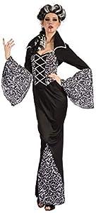 Ciao-Costume Lady Vampira, taglia unica adulto Disfraces, color bianco,nero, (62186)