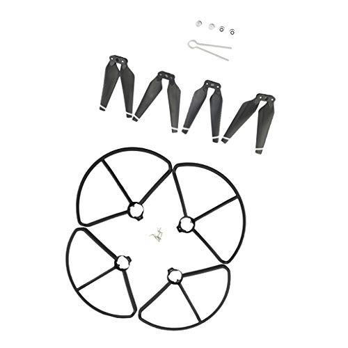 chiwanji Propeller Requisiten (CW CCW) Und Schutzgitter, Reparaturzubehör Für MJX B2C B2W B2 Bugs 2w Bugs 2 D80 F18 - Schwarz -
