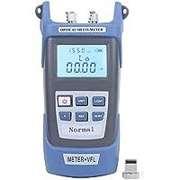 Medidor de potencia de fibra óptica de 15km, localizador visual de fallas de alta precisión Herramienta de fibra óptica con fuente de luz Plástico de ingeniería para medir la distancia de falla